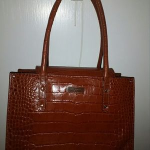 Authentic Kate Spade cognac leather satchel